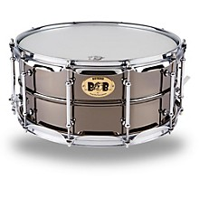 Open BoxPork Pie Big Black Brass Snare Drum with Tube Lugs and Chrome Hardware