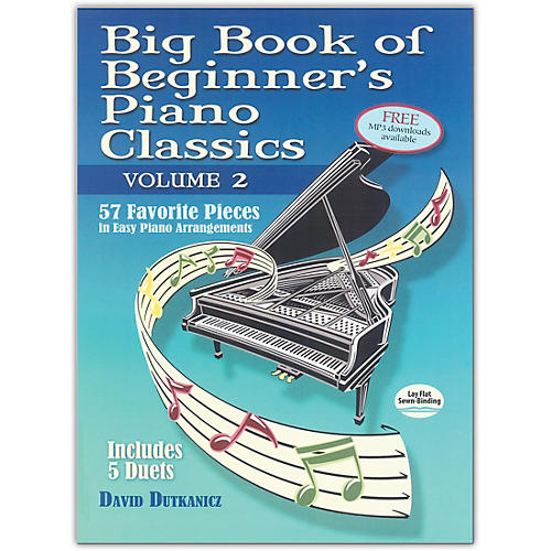 DOVER Big Book of Beginner's Piano Classics, Volume 2 Intermediate