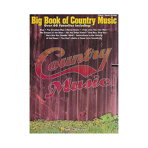 Hal Leonard Big Book of Country Music Piano/Vocal/Guitar Songbook
