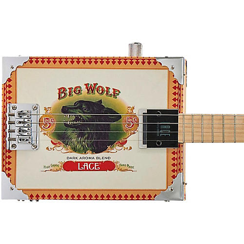 Lace Big Wolf Acoustic-Electric Cigar Box Guitar 4 string