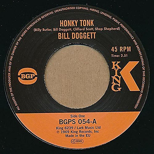 Alliance Bill Doggett - Honky Tonk / Popcorn
