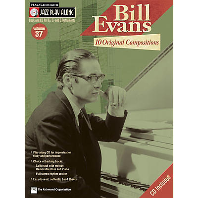 Hal Leonard Bill Evans: 10 Original Compositions Jazz Play Along Series Softcover with CD Performed by Bill Evans