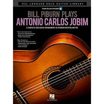 Hal Leonard Bill Piburn Plays Antonio Carlos Jobim Guitar Solo Series Softcover with CD