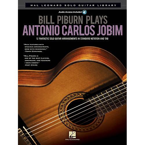 Hal Leonard Bill Piburn Plays Antonio Carlos Jobim Guitar Solo Series Softcover with CD