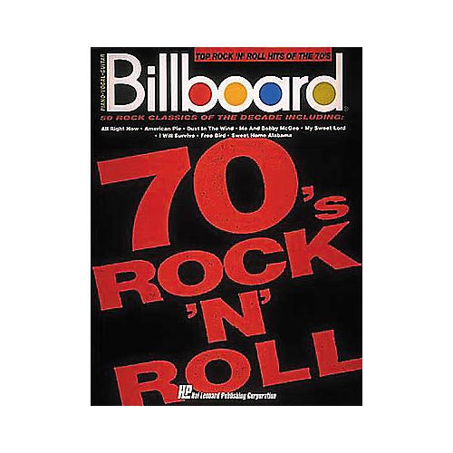 Hal Leonard Billboard Top Rock 'n Roll Hits of the 70's (Songbook)