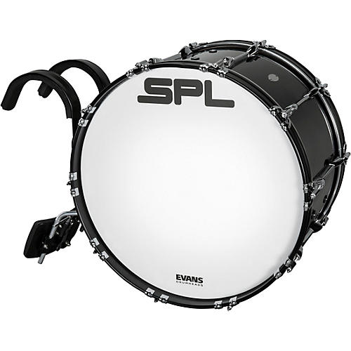 Sound Percussion Labs Birch Marching Bass Drum with Carrier - Black 22 x 14 in.