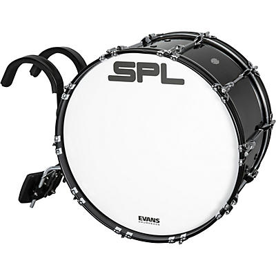 Sound Percussion Labs Birch Marching Bass Drum with Carrier - Black