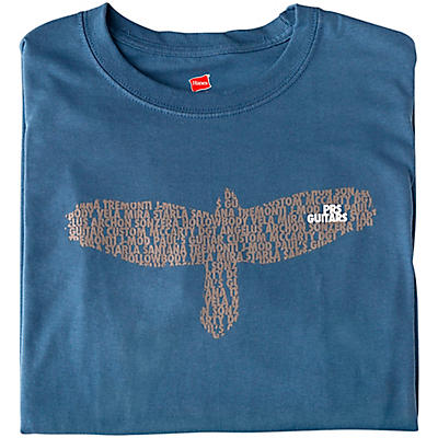 PRS Bird As A Word Slate Blue T-Shirt