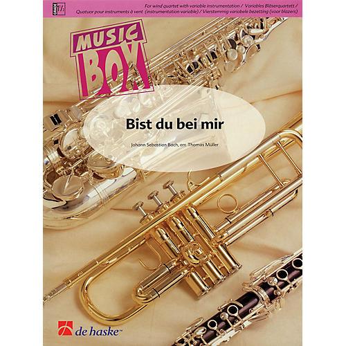 De Haske Music Bist du bei mir (Music Box Variable Wind Quartet) Concert Band Level 3 Arranged by Thomas Müller
