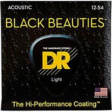 DR Strings Black Beauties Medium Acoustic Guitar Strings