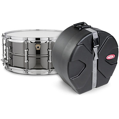 Ludwig Black Beauty Snare Drum with Tube Lugs and SKB Case