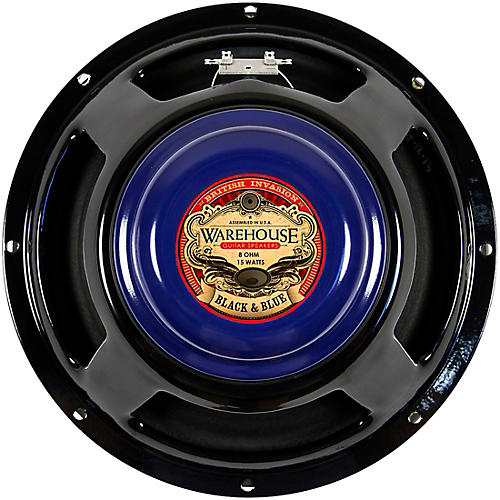 Warehouse Guitar Speakers Black & Blue 12