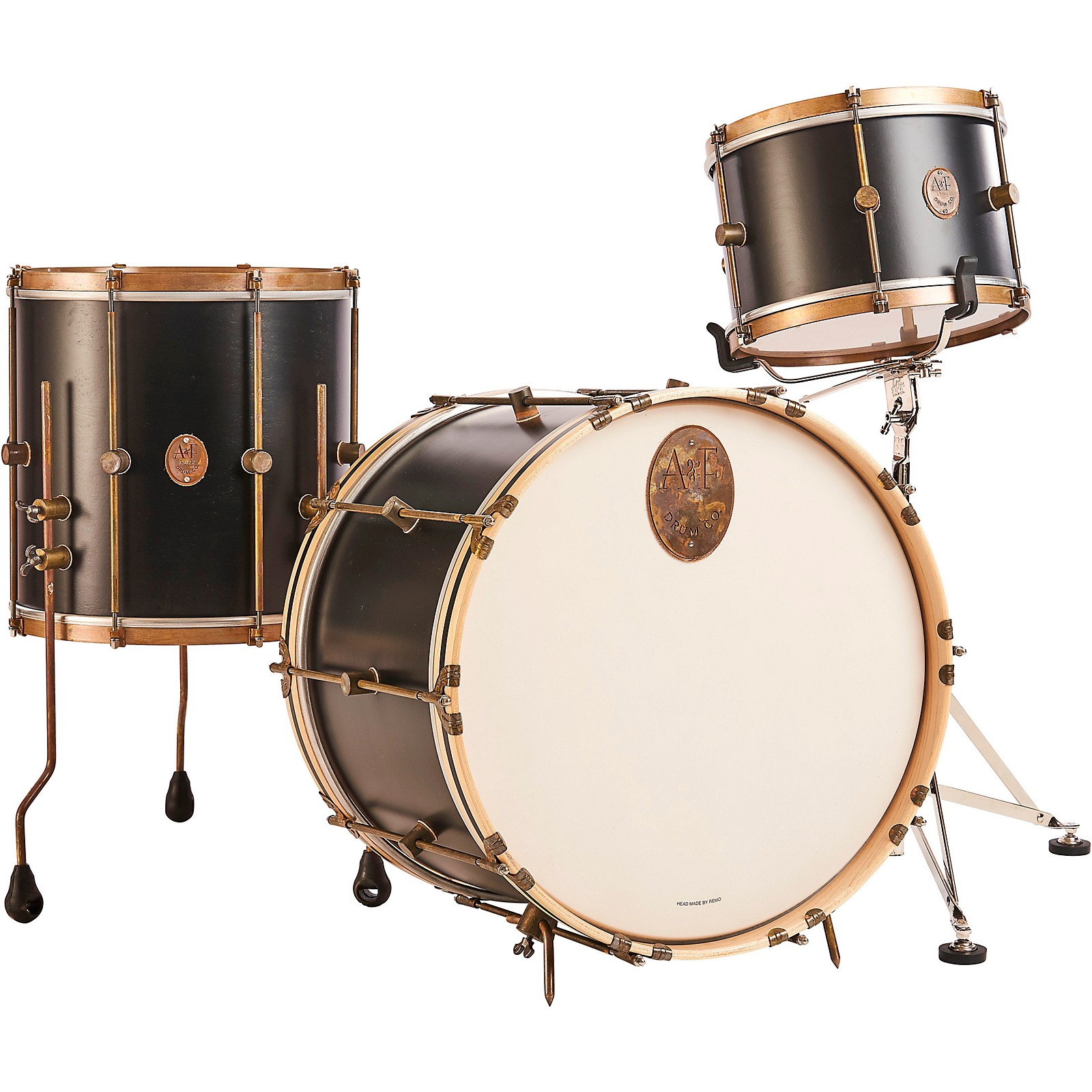 A&F Drum Co Black Club Maple 3-Piece Drum Shell Pack