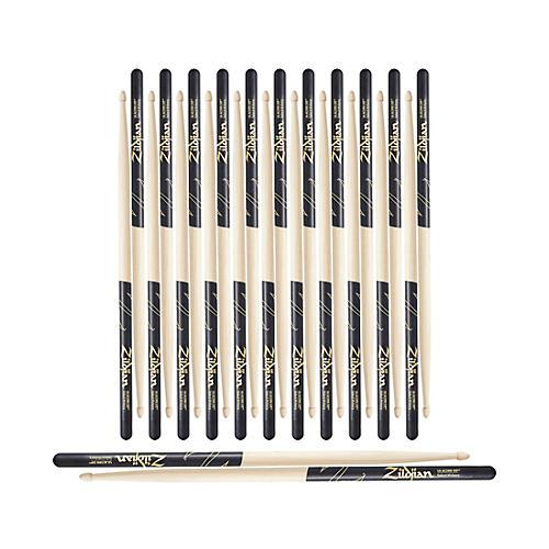 Zildjian Black DIP Acorn Tip Drum Sticks 12-Pack 5A Wood