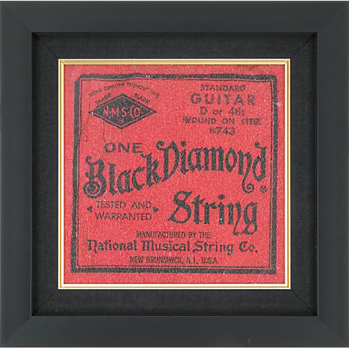 Gear One Black Diamond Electric Guitar String Plaque