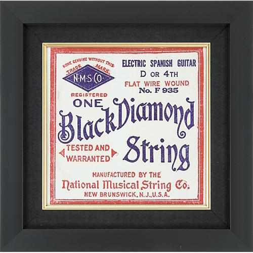 Gear One Black Diamond Electric Spanish Guitar String Plaque