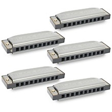 Silver Creek Black Gold Harmonica 5 Pack - Keys of A, C, D, E and G