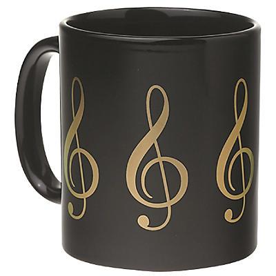 AIM Black/Gold Treble Clef Coffee Mug