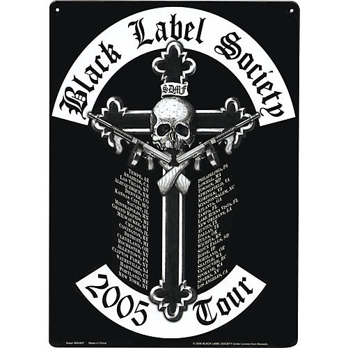 Gear One Black Label Society 2005 Tour Metal Sign