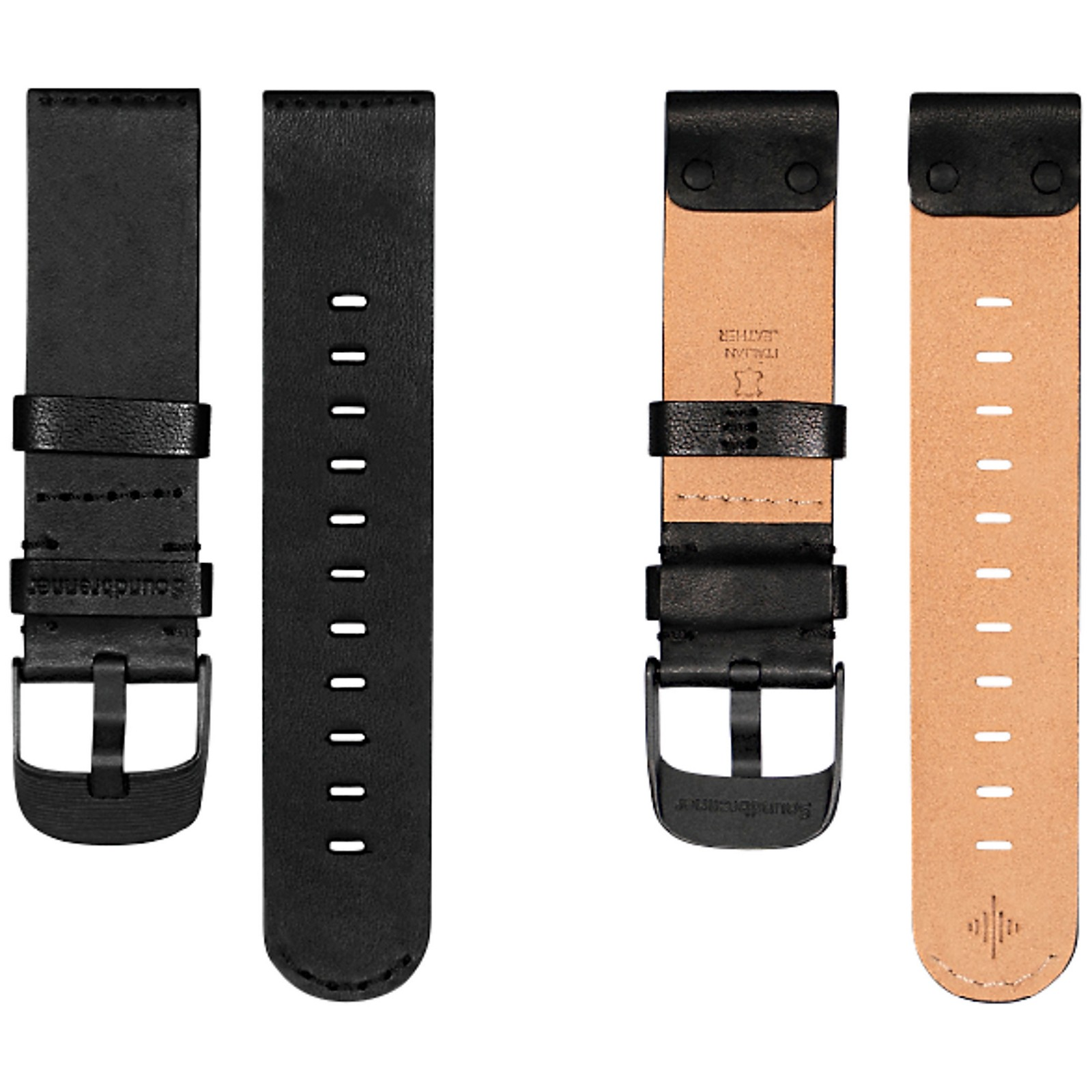Soundbrenner Black Leather Strap for Core and Core Steel