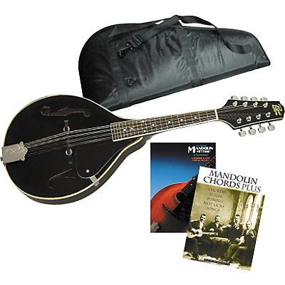 Musician's Friend Black Mandolin Starter Kit