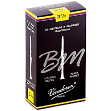 Black Master Traditional Bb Clarinet Reeds Box of 10, Strength 3.5