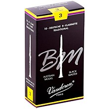 Black Master Traditional Bb Clarinet Reeds Box of 10, Strength 3