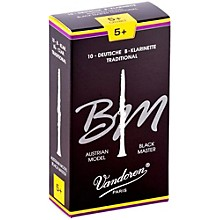 Black Master Traditional Bb Clarinet Reeds Box of 10, Strength 5+
