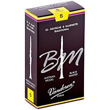 Black Master Traditional Bb Clarinet Reeds Box of 10, Strength 5