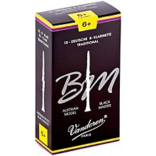 Black Master Traditional Bb Clarinet Reeds Box of 10, Strength 6+