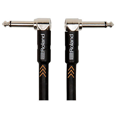 """Roland Black Series 1/4"""" Angled/Angled Instrument Cable"""
