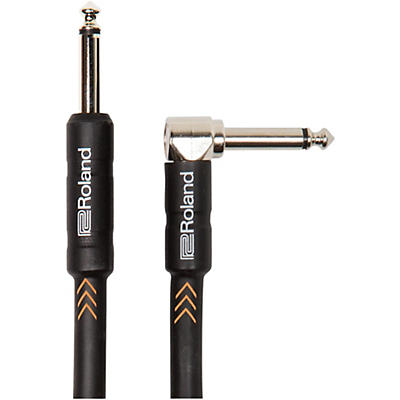 """Roland Black Series 1/4"""" Angled/Straight Instrument Cable"""
