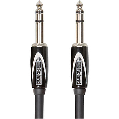 """Roland Black Series 1/4"""" TRS - 1/4"""" TRS Balanced Interconnect Cable"""