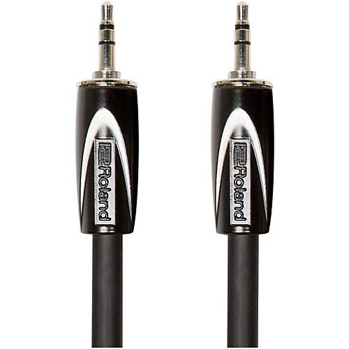 Roland Black Series 3.5mm TRS-3.5mm TRS Balanced Interconnect Cable 10 ft. Black