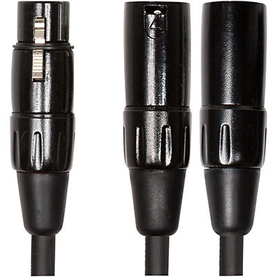 "Roland Black Series 6"" XLR (Female) - Dual XLR (Male) Y Interconnect Cable"