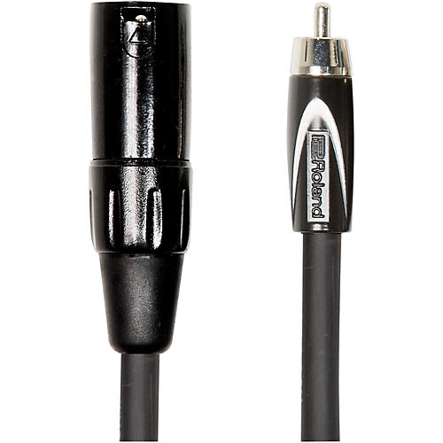 Roland Black Series XLR (Male) - RCA Interconnect Cable