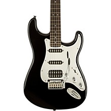 Squier Black and Chrome Fat Stratocaster HSS Electric Guitar