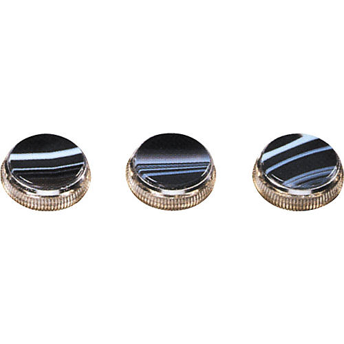 Bach Black and White Sardonyx Trumpet Finger Buttons 3-Pack