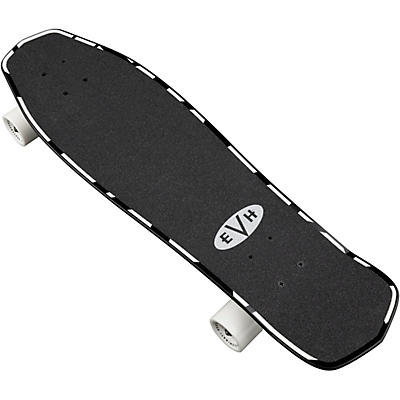 EVH Black and White Striped Skateboard