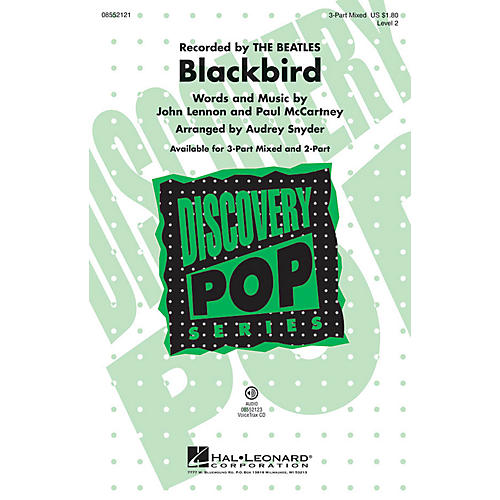Hal Leonard Blackbird (Discovery Level 2) 2-Part by The Beatles Arranged by Audrey Snyder