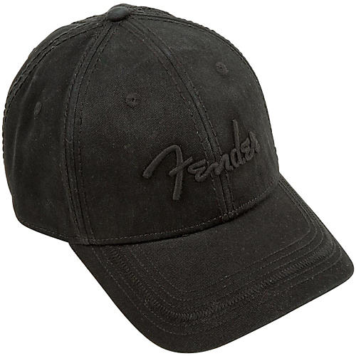 Fender Blackout Baseball Hat, Black, Onesize