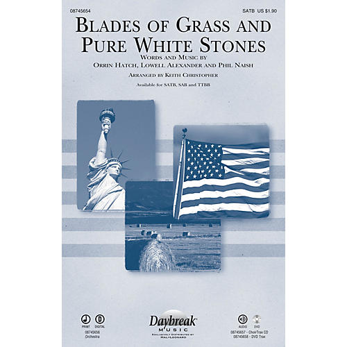 Daybreak Music Blades of Grass and Pure White Stones SAB Arranged by Keith Christopher