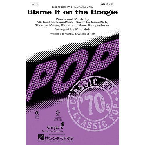 Hal Leonard Blame It on the Boogie SAB by Michael Jackson Arranged by Mac Huff