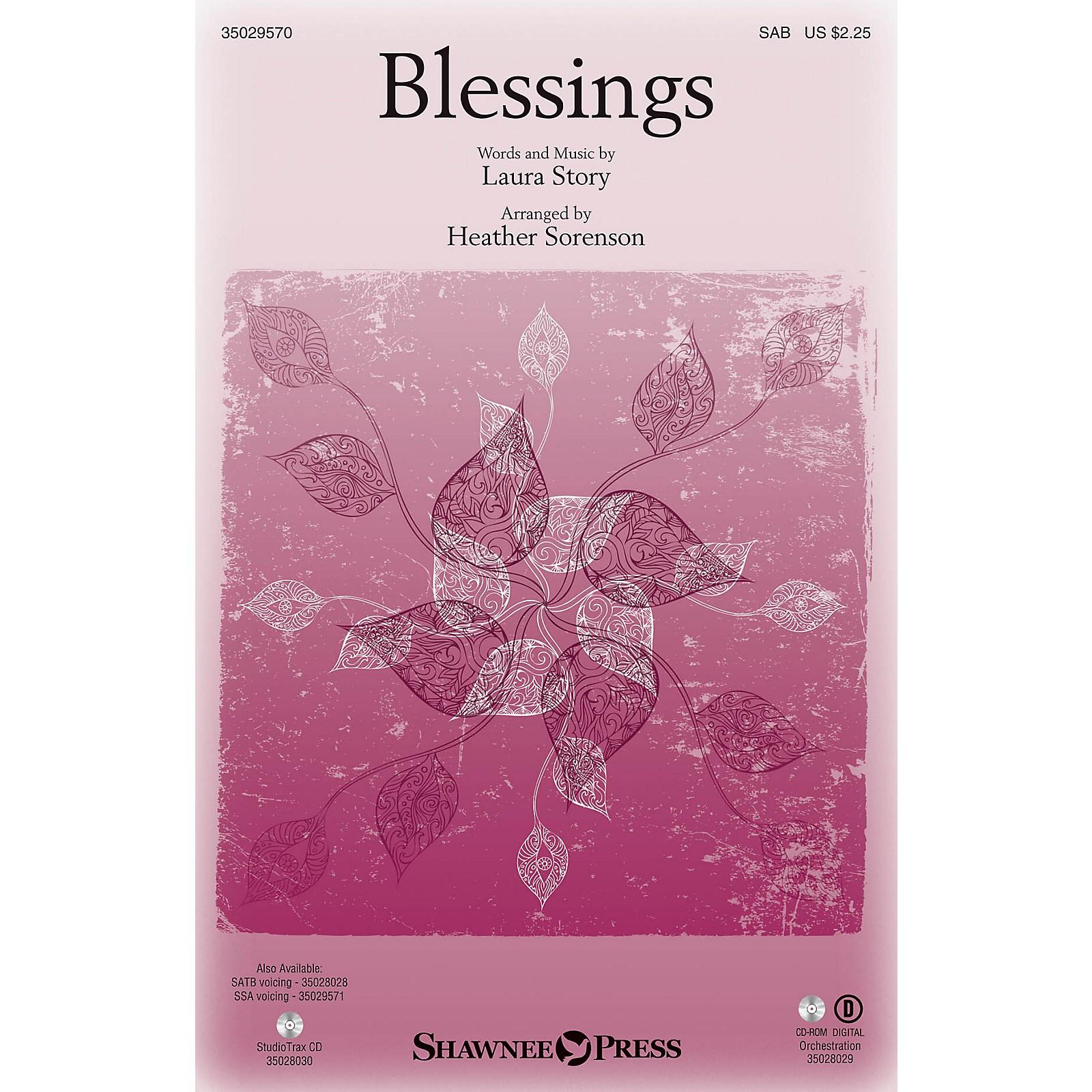 Shawnee Press Blessings SAB arranged by Heather Sorenson