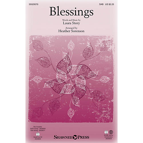 Shawnee Press Blessings SAB arranged by Heather Sorenson