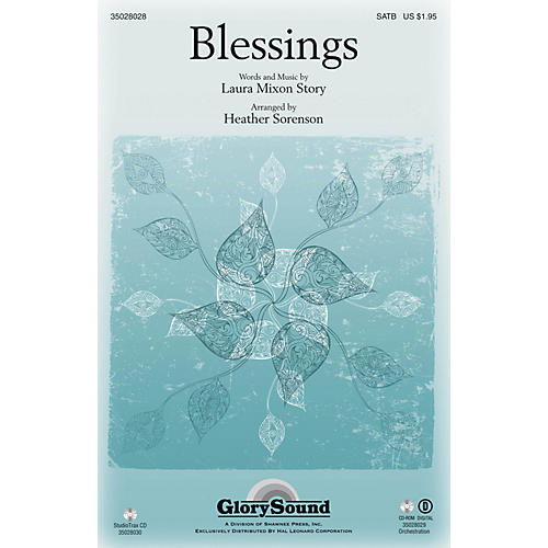 Shawnee Press Blessings Studiotrax CD Arranged by Heather Sorenson