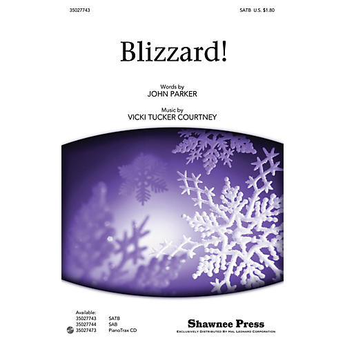 Shawnee Press Blizzard! SATB composed by John Parker