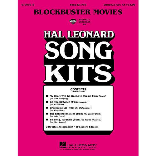 Hal Leonard Blockbuster Movies (Song Kit #39) ShowTrax CD Arranged by John Leavitt