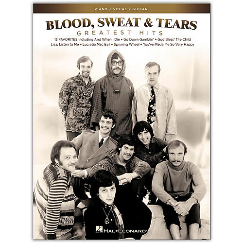 Hal Leonard Blood, Sweat & Tears - Greatest Hits for Piano/Vocal/Guitar