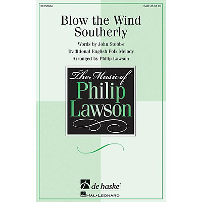 De Haske Music Blow the Wind Southerly SAB arranged by Philip Lawson